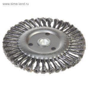 Щетка дисковая с гайкой М14 проволока скрученная 200мм  Sorbo