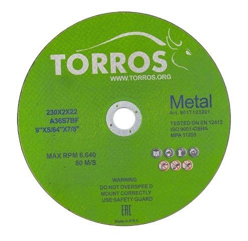 Круг отрезной 125х0,8x22,2 мм для стали TORROS
